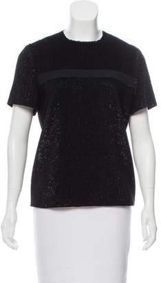 Thierry Mugler Embellished Short Sleeve Top