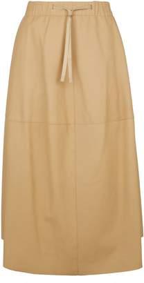 Vince Leather Tie Waist Skirt
