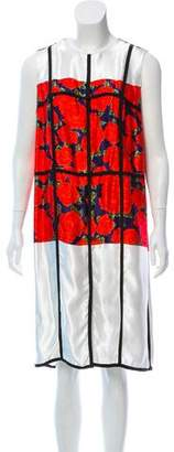 Maison Rabih Kayrouz Printed Sleeveless Dress