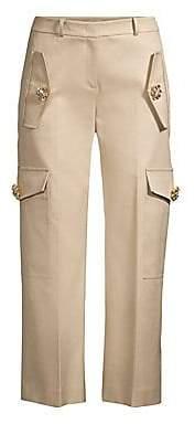 Michael Kors Women's Twill Jewel Cargo Pants