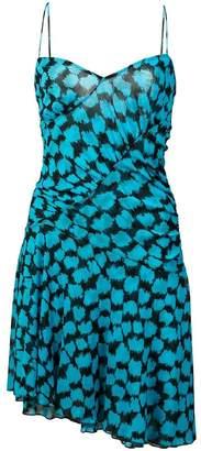 Diane von Furstenberg ruched printed slip dress