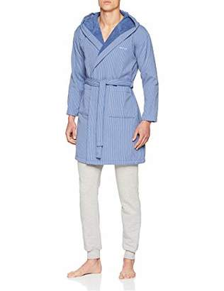 Gant Men's Flat Stripe Robe Dressing Gown,Large (Size: L)
