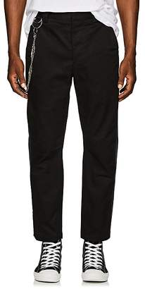 Chapter MEN'S CHAIN-EMBELLISHED STRIPED COTTON TROUSERS
