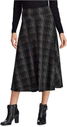 Chaps Plaid Midi Skirt