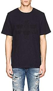 Pierre Balmain MEN'S CROWN-PRINT COTTON T-SHIRT-NAVY SIZE 52 EU
