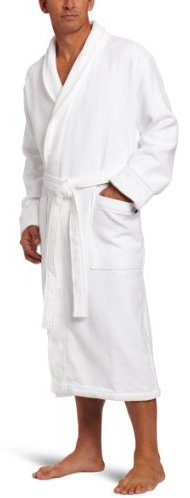 American Essentials Men's Waffle Terry Robe