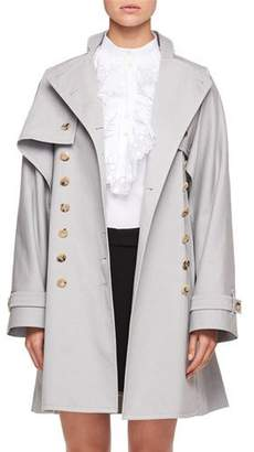 Chloé Double-Breasted Gabardine Trench Coat Converts to Vest
