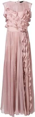 Irina Schrotter long ruffled dress