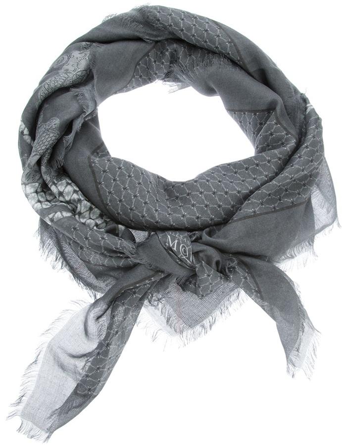 Alexander McQueen printed scarf