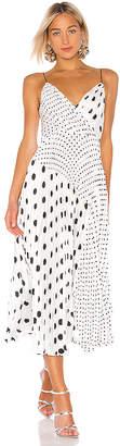 Jill Stuart Pleated Polka Dot Dress