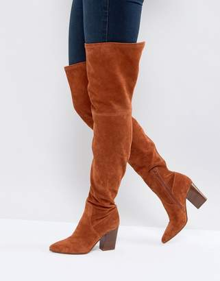 Asos KOI Suede Over The Knee Boots