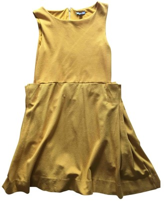 Cos Yellow Cotton Dress for Women
