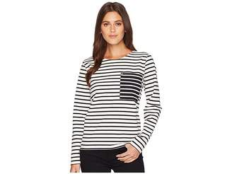Lauren Ralph Lauren Striped Cotton Pocket T-Shirt