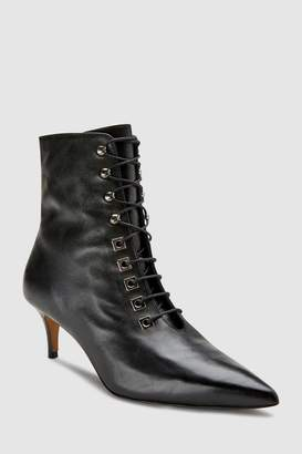 Next Womens Whistles Black Lace-Up Boot