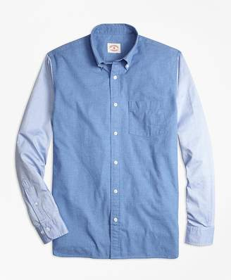 Chambray Color-Block Sport Shirt $79.50 thestylecure.com