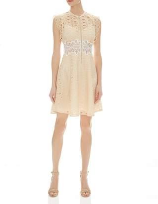 Sandro Kamel Sleeveless Lace Zip-Front Dress