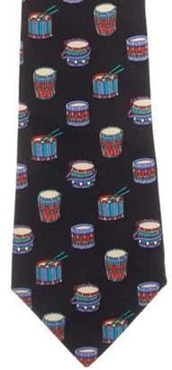 Chanel Printed Silk Tie black Printed Silk Tie