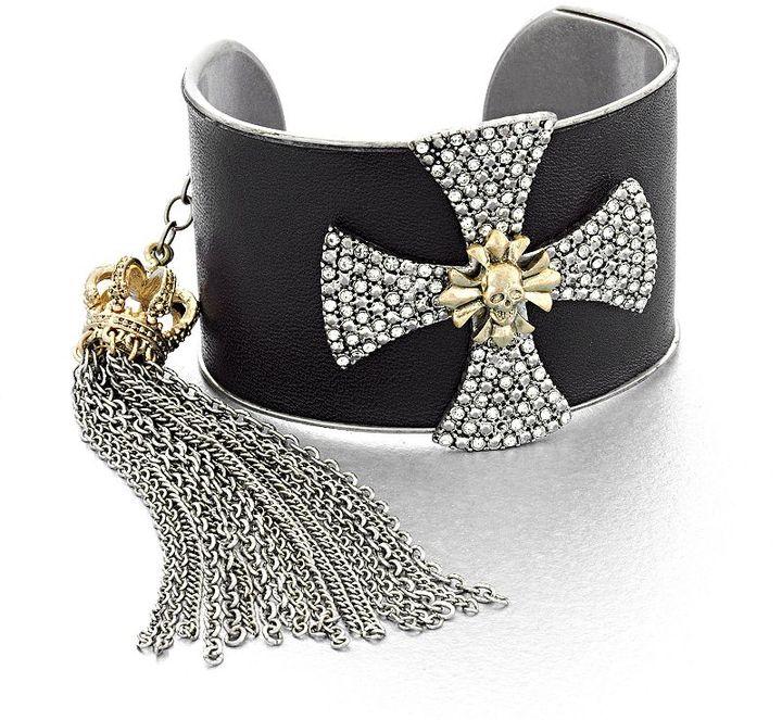 Rock & Republic Rock and republic two tone cross cluster cuff bracelet