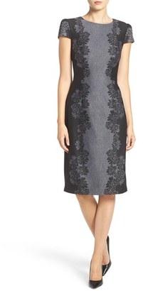 Betsey Johnson Floral Jacquard Sheath Dress $128 thestylecure.com