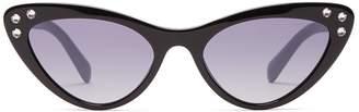Miu Miu Crystal-embellished acetate cat-eye sunglasses