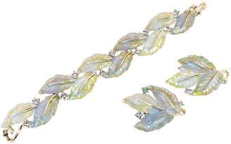 One Kings Lane Vintage Lisner Variegated Leaf Bracelet Suite