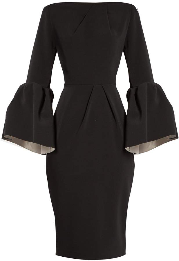 ROKSANDA Margot bell-sleeved crepe dress