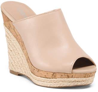 magasins d'usine profiter de la livraison gratuite meilleur prix Wedges Espadrille Or Cork Sandals - ShopStyle
