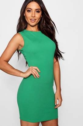 boohoo Basic Crepe Mini Dress