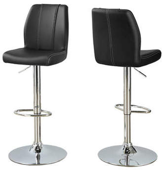 Monarch Panelled Faux-Leather Barstool Set