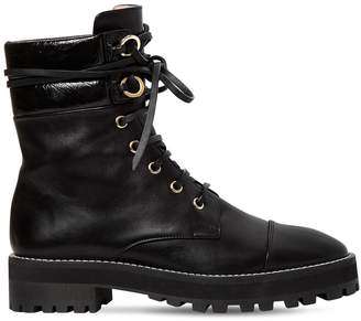 Stuart Weitzman 30mm Lexy Nappa Leather Combat Boots