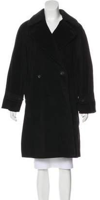 Max Mara Double-Breasted Knee-Length Coat