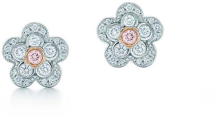 Tiffany & Co. Fancy Pink Diamond Flower Earrings