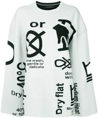 Rokh symbol-print jumper