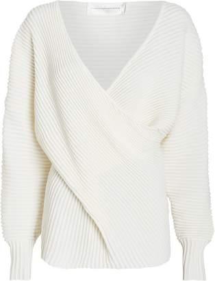 Victoria Victoria Beckham Victoria, Victoria Beckham Draped Merino Wool Sweater