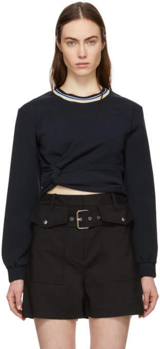 Navy Twisted Sweatshirt