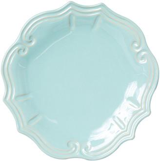 Vietri Incanto Stone Baroque Dinner Plate, Aqua