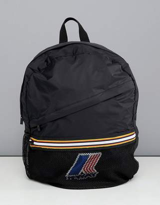 K-Way K Way Le Vrai 3.0 Francois packaway backpack in black