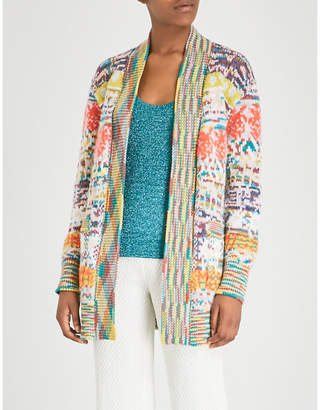 Missoni Multi embroidered alpaca and cashmere-blend cardigan
