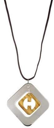 Hermes Perforation Pendant Necklace