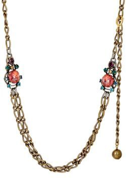 Lanvin Women's Crystal-Embellished Figaro-Chain Necklace $795 thestylecure.com