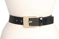 MICHAEL Michael Kors Michael Kors 1 1/2 Square Buckle (Specchi) (Black) - Apparel