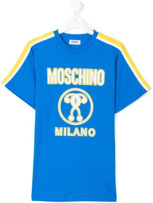 Moschino Kids stripe detail logo T-shirt