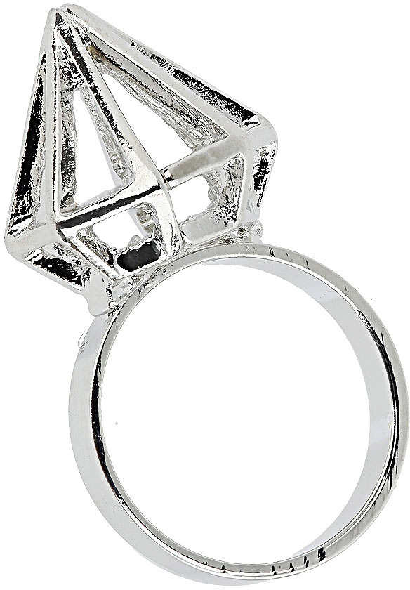 Topshop Cut Out Diamond Ring