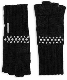 MICHAEL Michael Kors Studded Fingerless Gloves