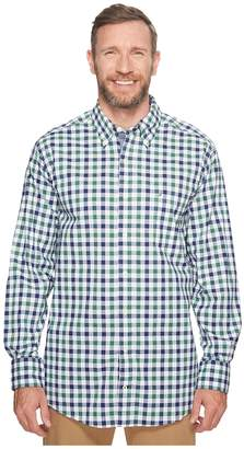 Nautica Big Tall Long Sleeve Gingham Shirt Men's Clothing