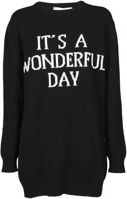 Alberta Ferretti It's A Wonderful Day Sweater Dress