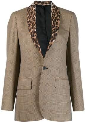 R 13 clashing pattern blazer