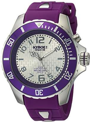 KYBOE! 'Power' Quartz Stainless Steel and Silicone Casual Watch