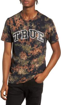 True Religion Brand Jeans Crumple Dyed Logo T-Shirt