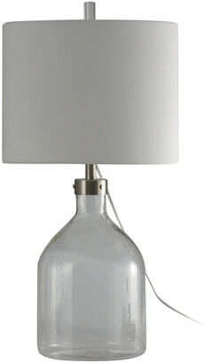 Stylecraft Style Craft 31In Seeded Glass Table Lamp